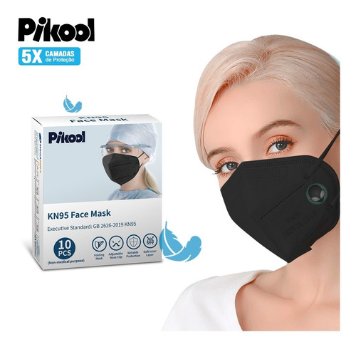 Máscaras Kn95 Descartável Leve Proteção Meltblown Ffp2 N95