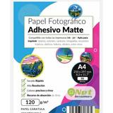 Papel Fotográfico Adhesivo Matte A4 120gr 50hojas