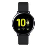 Samsung Galaxy Watch Active2 (bluetooth) 1.4  Caixa 44mm De  Alumínio  Aqua Black Pulseira  Aqua Black De  Fluoroelastómero E O Arco  Aqua Black Sm-r820