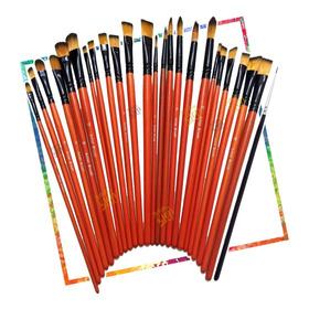 Set Kit 25 Pinceles Artistas, Oleo, Acrilico, Profesionales