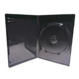 Estuche Caja De Dvd/cd Negra Ancha 14mm Folio Calidad X 100