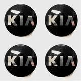 Tapa Emblema Logo De Aro Kia 58mm