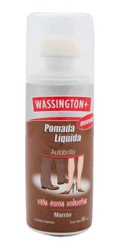 Wassington Pomada Liquida Autobrillo Marron X 60cm3