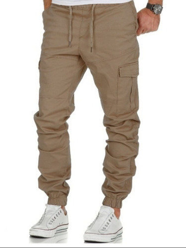 Pantalón Jogger Cargo Jeans Para Hombre Casual