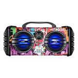 Caixa De Som Lenoxx Sound Wave Ca445 Portátil Com Bluetooth Colorido 110v/220v