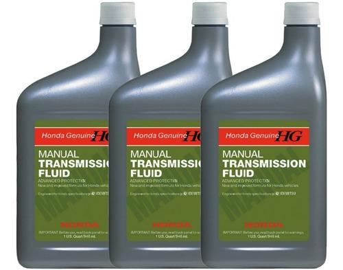 Pack X3 Aceite Transmisión Manual Fluid Honda Original