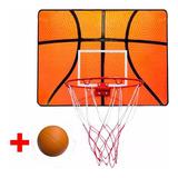 Tablero Aro Basquetbol P/ Puerta+ Red + Pelota Basket El Rey