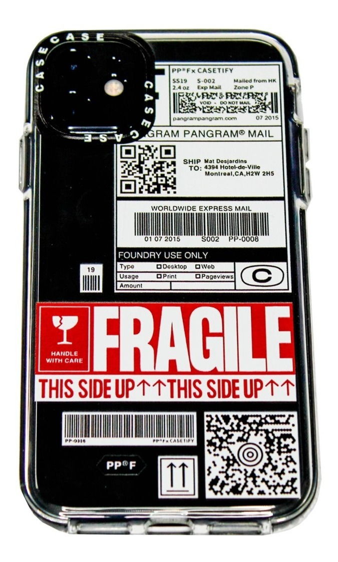 FUNDA TICKET FRAGILE IPHONE 12 MINI