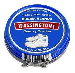 Wassington Crema Blanca Para Cuero Y Cuerina X 39g