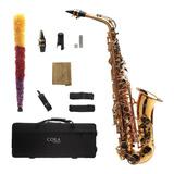 Saxofón Alto Dorado Cora By L. America + Accesorios