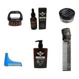 Kit Aceite Barba Peine Bearbro Shampoo Cepillo Cera Barberia