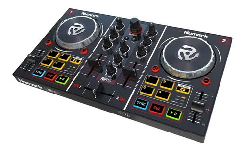 Controlador Consola Dj Numark Modelo Party Mix Con Luces Led Virtual Dj Le Compacta Y Excelente