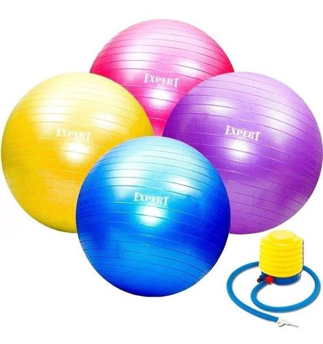 Pelota De Pilates 75cm  Fitness Yoga Gym + Inflador - El Rey