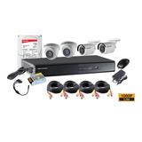 Kit Profesional Hikvision 4 Camara Exterior Fhd 1080p Dd 1tb