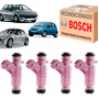 Kit 4 Bico Injetor Peugeot 206 1.4 Flex 2006 2007 2008 Original