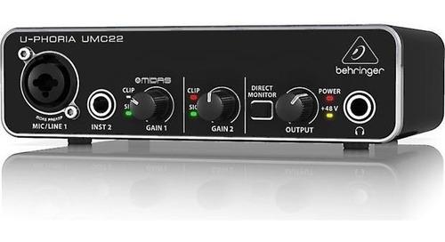 Interface De Audio U-phoria Umc22 Behringer Envio Emediato