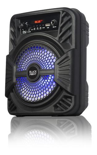 Parlante Portátil Black Point Bluetooth Usb Radio Led S32