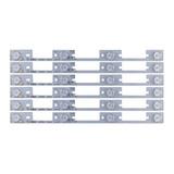 Kit C/6 Barras De Led De Aluminio Tv Semp 40l2400 Completo