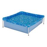 Piscina Estrutural Retangular Mor 001000 Com Capacidade De 400 Litros De 1.15m De Comprimento X 1.06m De Largura  Azul Olas