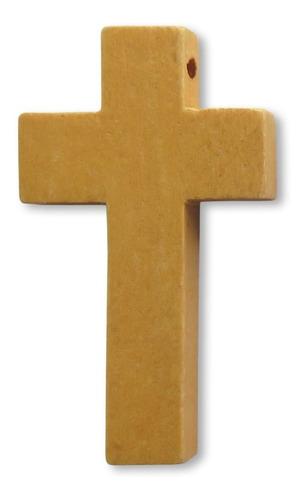 10 Cruces Lisas De Madera 4,2 Cm X 2,5 Cm Varios Colores