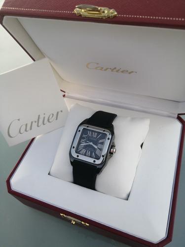 Reloj Cartier Santos 100 Mid Size, No Rolex Panerai Omega Ap