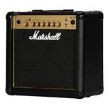 Amplificador Marshall Mg Gold Mg15r Combo Transistor 15w Negro Y Dorado 220v