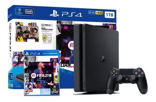 Sony Ps4 Fifa 21 Bundle Negro Palermo Cuotas S/interes