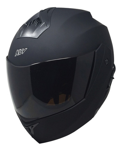 Casco Moto Abatible Kov Stealth Negro Mate Certificado Dot