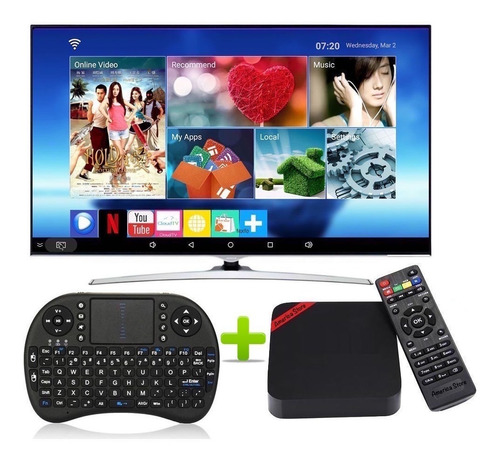 Convertidor A Smart Tv 7.1 Ram 2gb Rom 16gb + Teclado Tv Box