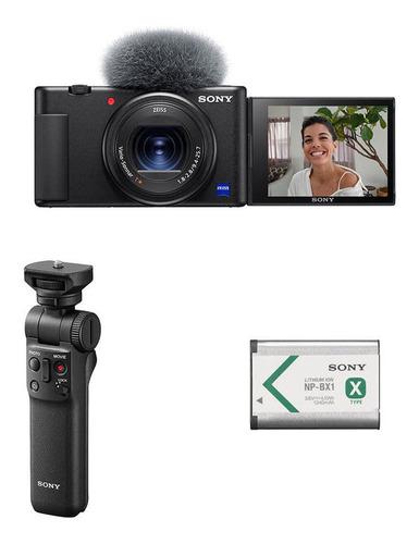 Camara Sony Zv1 Vlog 4k Hdr, Grip Tripode Bluetooth, Bateria