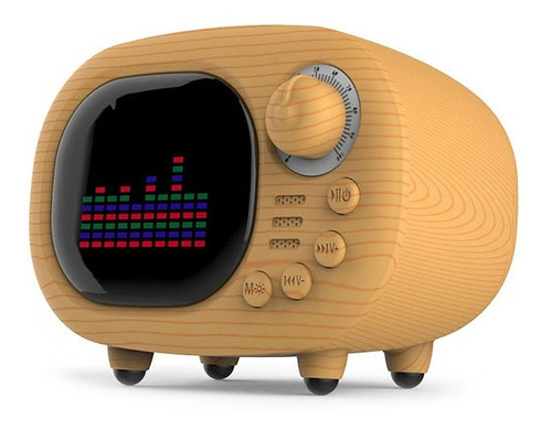 Parlante Portatil Bluetooth Vintage Retro Display Lcd Fm Sd