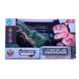 Dinosaurio Con Luz Y Sonidos 25 Cm A Pila El Duende Azul