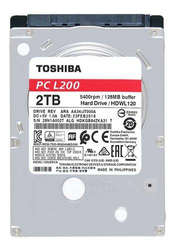 Disco Rígido Ps4, Ps3 Toshiba 2tb 7mm 2.5 Sata Duro