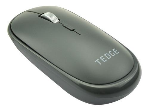 Mouse Bluetooth Inalámbrico Recargable Gris Tedge