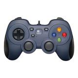 Control Joystick Logitech F310 Azul Y Negro