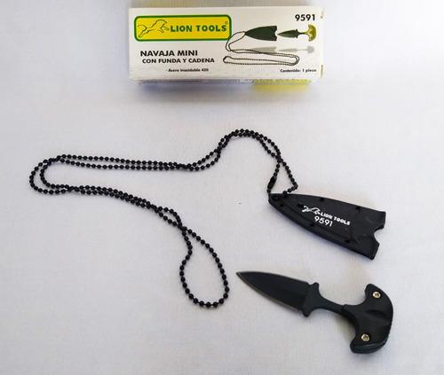 Navaja Cuchillo Mini Con Funda Y Cadena 9591 Lion Tools