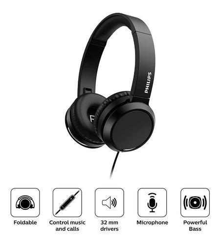 Audífonos Supraurales Con Cable Y Micrófono Philips Tah4105
