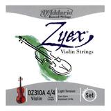 Encordado Daddario Dz310a P/violin 4/4 Zyex Aluminio Light