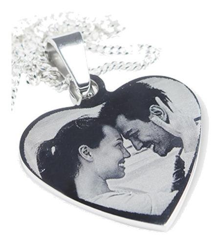 Foto Medalla Corazón + Cadena Acero Quirurgico