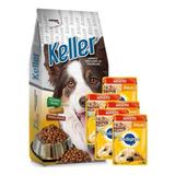 Keller Adulto 22kg + 5 Pate + 6 Pagos