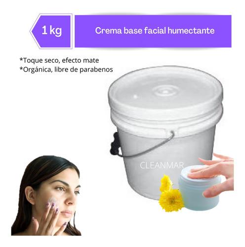 Crema Base Facial Orgánica Libre De Parabenos 1 Kg