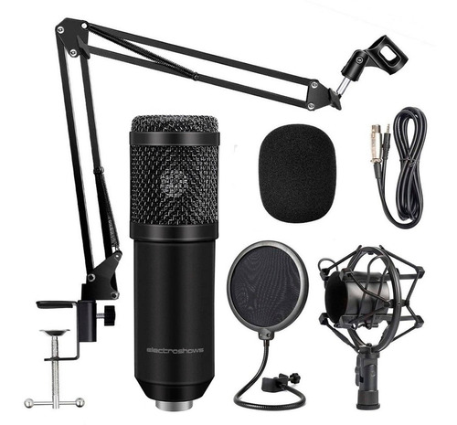 Microfono Condenser Kit Estudio Profesional Streamer Plug