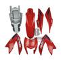 Kit Carenagem Nxr150 Bros 2012 Ks Vermelha Com Adesivo Original