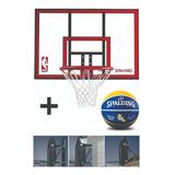 Tablero Basketball Spalding 44 Policarbonato  Nba - Auge