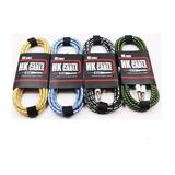 Cable De Guitarra Y Bajo Colores Hk 3mt Diseños.