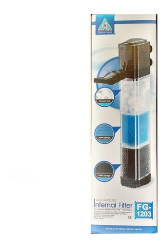 Filtro De Acuario Con Material Filtrante Sobo 880 L/h