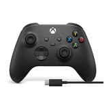 Controle Joystick Sem Fio Microsoft Xbox Xbox Series X s Controller + Usb-c Cable Carbon Black