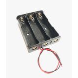 Portapilas 18650 X 3 Con Cables Porta Pilas Bateria Holder