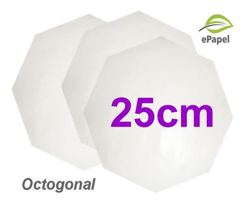 400 Folha Papel Manteiga N.25 Formato Caixa De Pizza 25cm