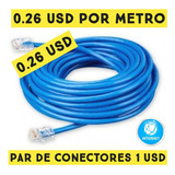 Cable Utp Cat6 Internet Por Metro Redes Cctv